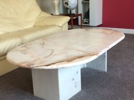 solid marble coffee table excellent condition