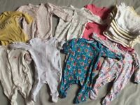 Baby girls clothes newborn and small baby