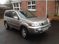 NISSAN X-TRAIL 2.5 AUTO SVE 4x4(hard 87000 miles elec Windows,sunroof,seats and door mirrors