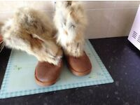 Fur ugg boots, size 6 never worn unwanted gift. Genuine uggs, were £200 new.