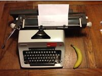Olympia SG-3 typewriter, working with ribbon and rare x-wide carriage
