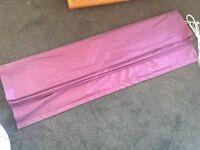 Purple roman blind, faux silk, 120cm wide
