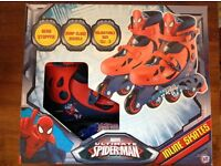 40 Pairs Of Spiderman Inline Roller Skates New Size 13-3 Adjustable £200