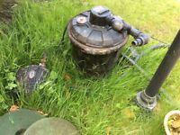 Large fish pond pump