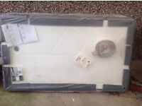 shower tray mobility shower tray ( 1250mm x 710mm ) and half height doors new still boxed £80.00