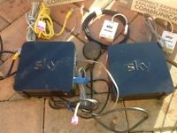 2 x sky hub wifi broadband home hubs. All cables ready to go perfect order