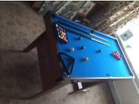 BCE Folding Snooker/Pool Table 4 foot x 6 foot