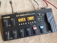 Boss GT-100 Guitar Effects Processor.