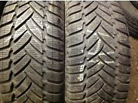 Second hand tyres Dunlop 205/55/16 / normal & Runflat 7.6 mm/ sets & pairs
