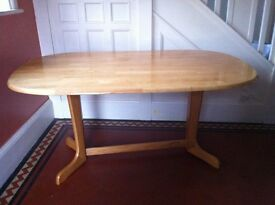 Large Retro Oval Dining Table / Can Deliver