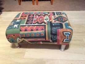 New foot stool with steel legs
