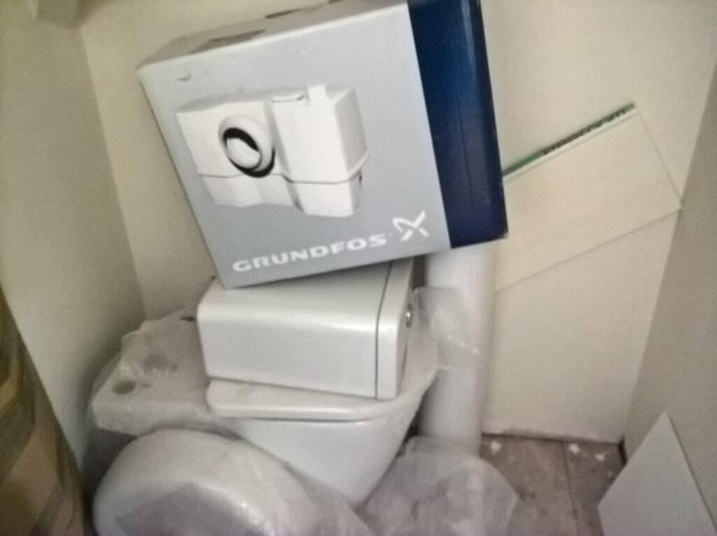 Grundfos Saniflo Unit Plus Toilet Pedestal Wash Basin Closet Type
