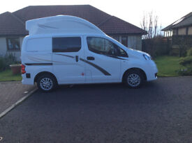 """2017 Nissan NV200 1.5DCI single berth (can be made double) """"Touring Cub"""" only 4,900 miles"""