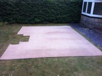 Used light brown bedroom carpet excellent condition. Total size: 4.8m x 3.8m