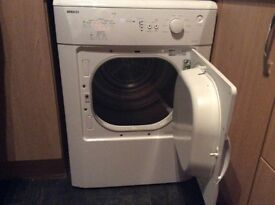 Beko 6kg vented tumble dryer. Good working order. No scratches dents etc.