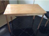 Oak effect table excellent condition