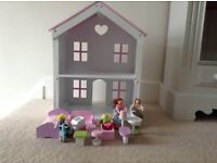 Lovely ELC dolls house with accessories