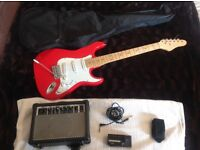 Electric guitar & Amp &Tuner & case