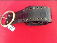 Brand New Brown Mock Croc Belt