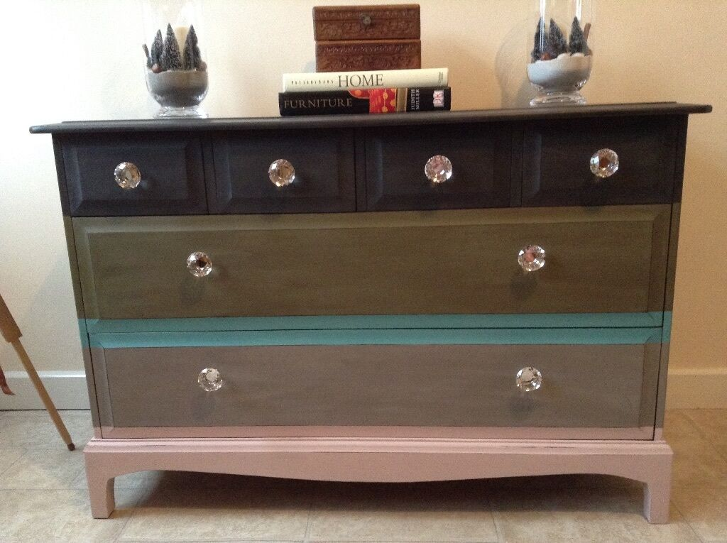 Up Cycled Stag Minstrel Chest Of Drawers  Last Chance To Buy It
