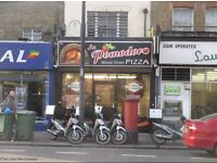 Pizza takeaway for sale in Brixton( WOOD OVEN) £170000
