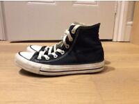 Black Converse Chuck Taylor High Tops Size 5.5