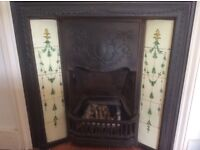 Combination Victorian tiled cast iron fireplace