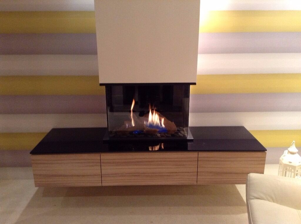 DRU GLOBAL 60 TRIPLE BALANCED FLUE FIREin Stoke on Trent, StaffordshireGumtree - DRU GLOBAL TRIPLE 60 GAS FIRE WITH ZEBRA WOOD CABINETS AND BLACK GLASS TOP