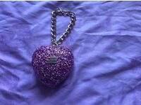 Moschino coin purse/ charmer/ key ring in pink sequin