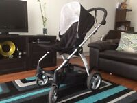Mamas & Papas black pram with carrycot /pushchair/stroller