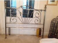 Bed head, metal, fits a 5ft bed (king size)