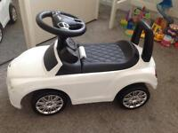 White Bentley Ride On - excellent condition
