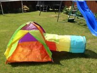 Play tent, pop up tunnel & balls