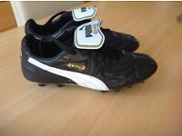 Puma King firm ground football boots, size 7.5, excellent condition, worn only once on AstroTurf.