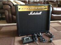 Marshall amp digital fx MG100 DFX 100 watts plus foot switch
