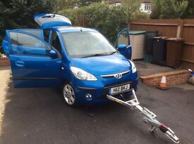 Hyundai I10 Style Blue Towcar 1.1cc 2008 Very Good Condition and Low Mileage