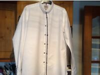 NEXT shirt size 16 ( 41 cms ) slim fit white shirt with black detail. Immaculate and smart.