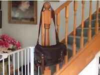 Gorgeous original Mimi Berry Dark Brown Leather Baggins Man Bag.