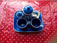 CHINA COFFEE SET , collectable CHINA MADE BY WHITTARD CHELSEA,HAND PAINTED MICROWAVEABLE
