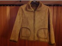 Faux fur/suade jacket size 12/16. Immaculate and great for hols/uni/festivals/dog walks etc...
