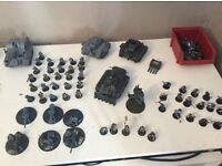 Medium sized dark angles and Astra militarism/imperial guard armies (bits required to fix included)
