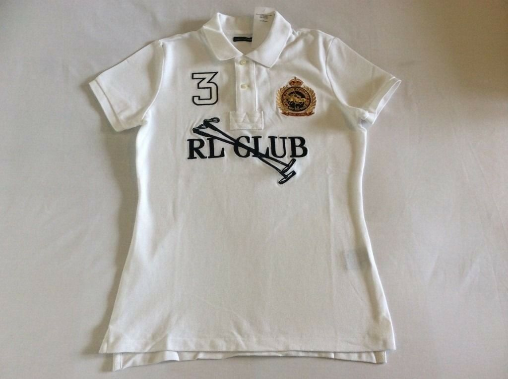 Brand New Genuine Ralph Lauren Womens Polo Size Large Top Unique T Shirt Label Price 30%OFF 100sales