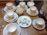 Tradional bone China tea service.