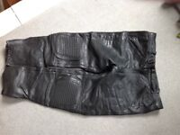 """Leather motor cycle trousers size 38"""" waist"""