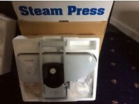 STEAM PRESS, Model No.GF750, as new condition, Rated Power input 1200w. Buyer collect