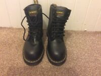 Mens Dr Martens Air Wair 7 Hole Steel Toe Safety Shoe Boot Size 9