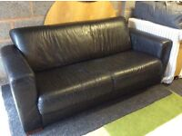 Black 2 seater sofa,