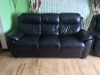Black Leather Suite of Furniture For Sale 3-1-1 (Reclining armchairs)