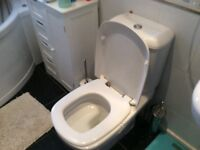 Sink with tap and pedestal also WC for sale