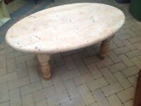 Chunky Solid Pine Coffee Table